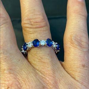 Bella Luce Blue Sapphire & White Diamond Simulant